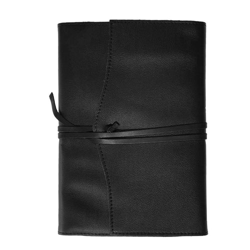 Belcraft Amalfi Medium Refillable Black Leather Journal