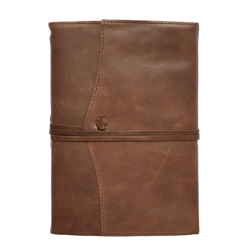 Belcraft Amalfi Medium Refillable Chocolate Leather Journal