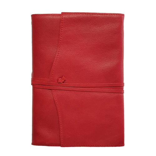 Belcraft Amalfi Medium Refillable Red Leather Journal