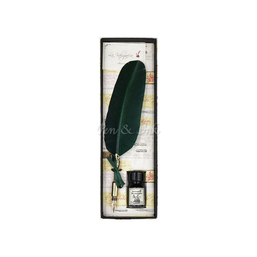Duomo Mini Forest Green Quill Writing Set