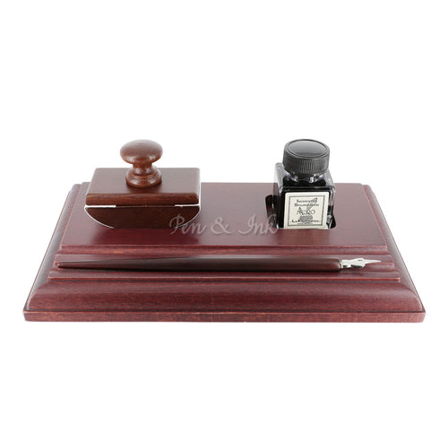 Duomo Wooden Calligraphy Desk Set