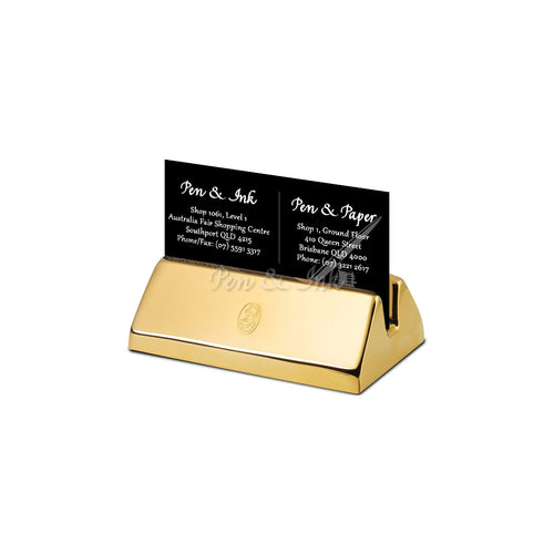 El Casco 23k Gold-Plated Business Card Holder
