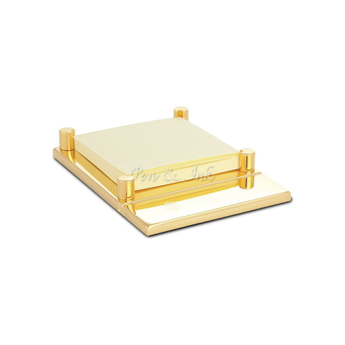 El Casco 23k Gold-Plated Adhesive Note Holder
