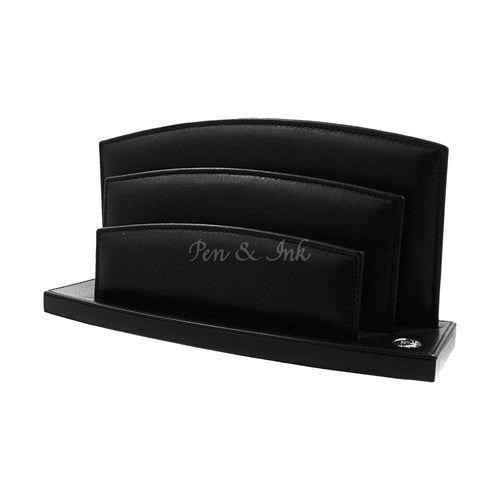 El Casco Black Leather Envelope Holder