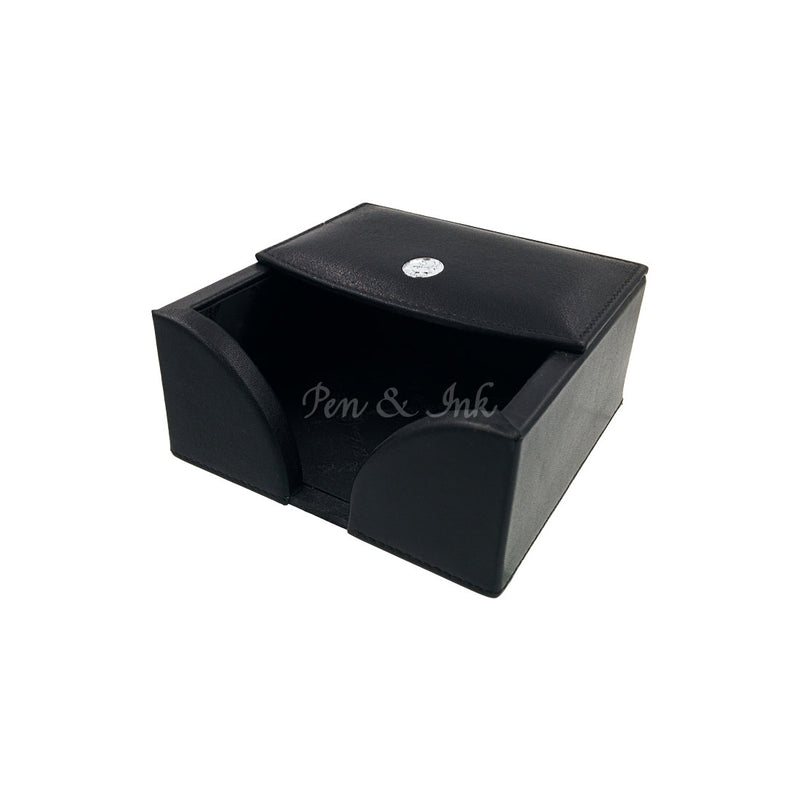 El Casco Black Leather Memo Note Holder