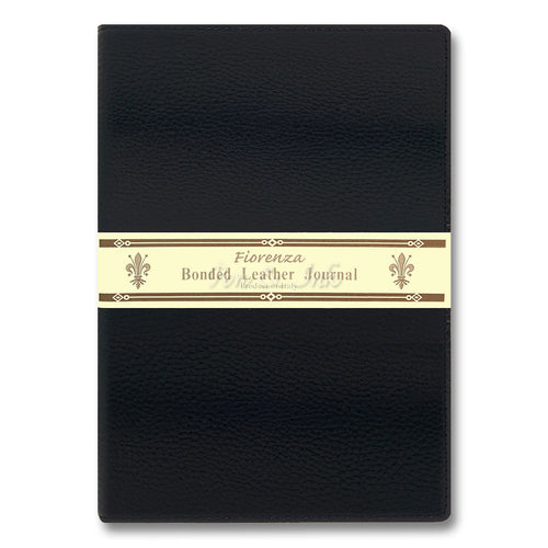 Fiorenza A4 Black Bonded Leather Writing Journal