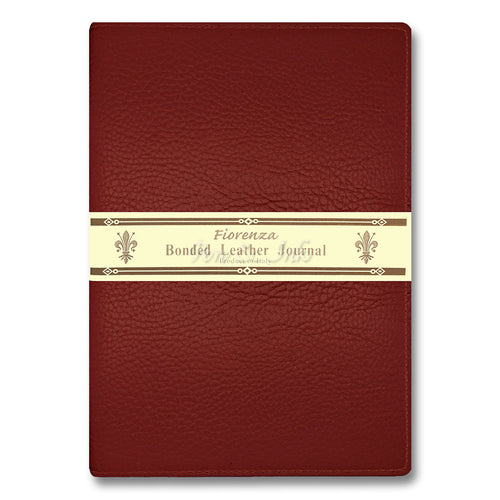 Fiorenza A4 Red Bonded Leather Writing Journal