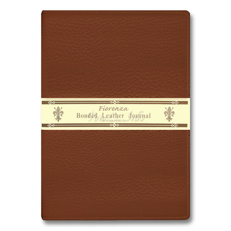 Fiorenza A4 Tan Bonded Leather Writing Journal