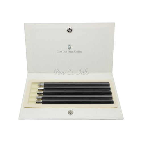Graf von Faber-Castell Five No.V Black Pocket Pencils