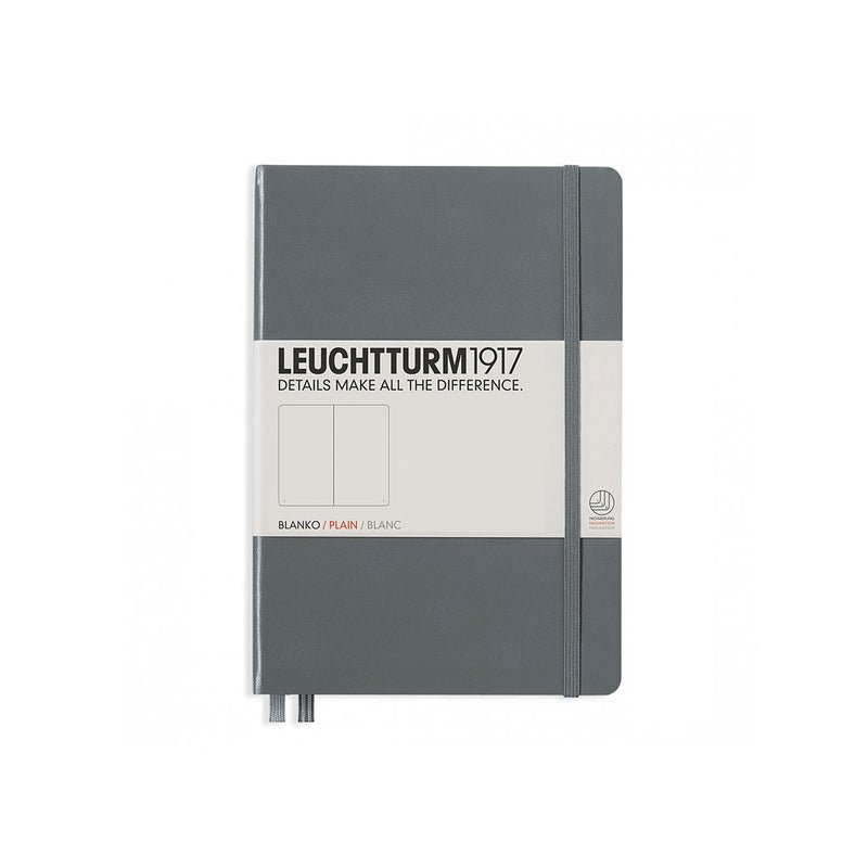 Leuchtturm A5 Hard Cover Plain Anthracite