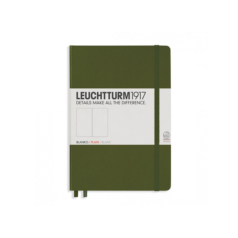 Leuchtturm A5 Hard Cover Plain Army