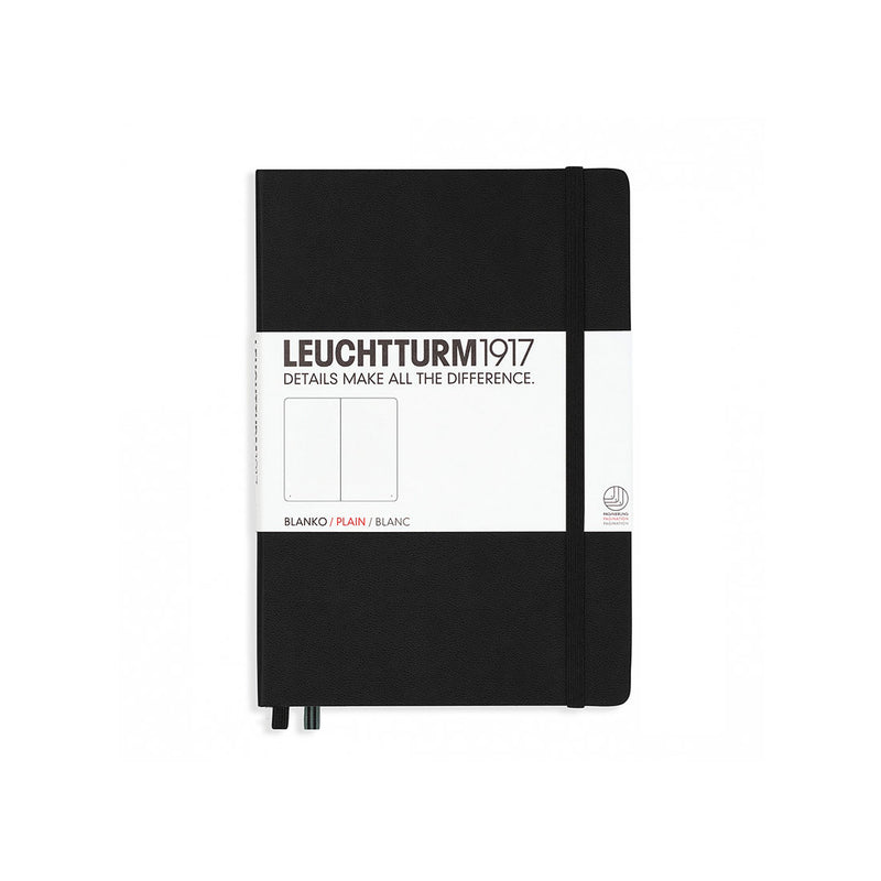 Leuchtturm A5 Hard Cover Plain Black
