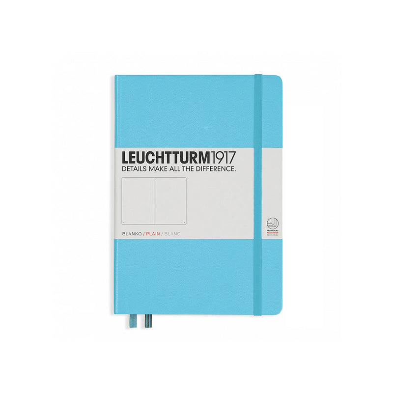 Leuchtturm A5 Hard Cover Plain Ice Blue