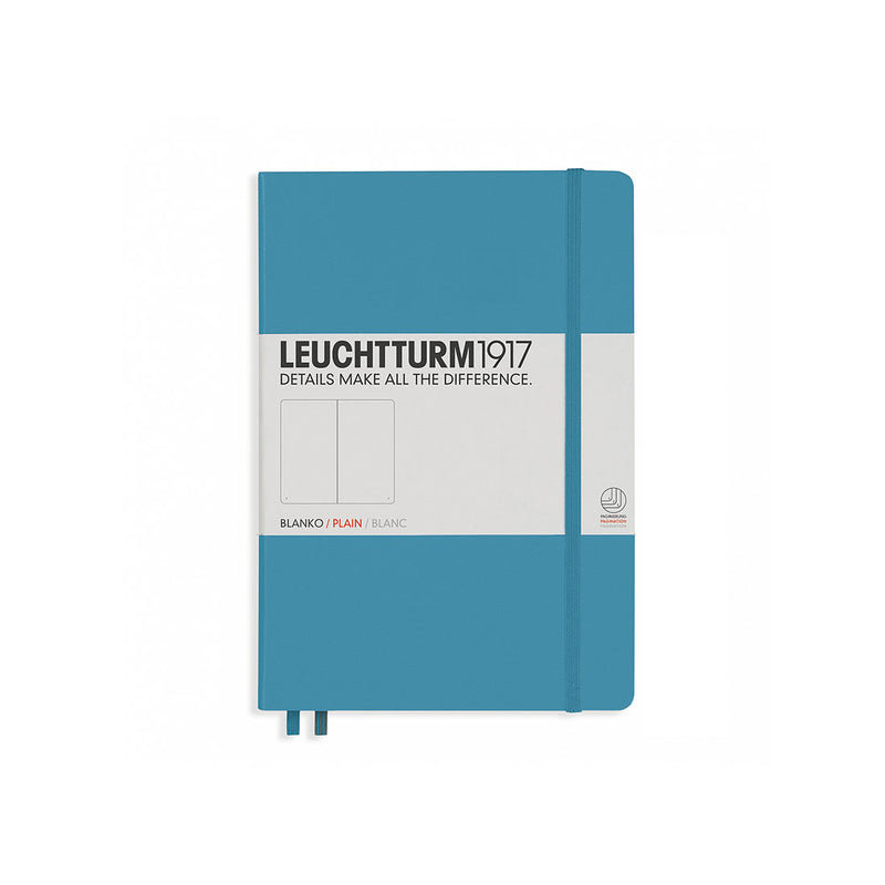 Leuchtturm A5 Hard Cover Plain Nordic Blue