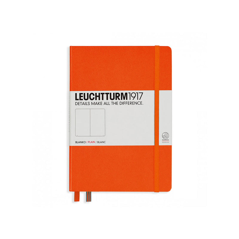 Leuchtturm A5 Hard Cover Plain Orange