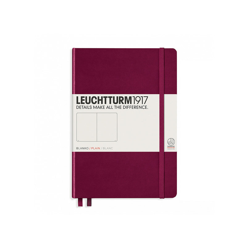 Medium A5 Hard Cover Plain Notebook