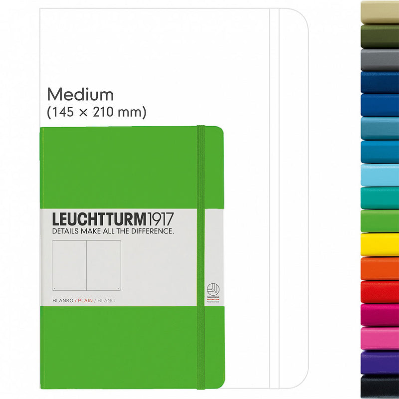 Leuchtturm A5 Hard Cover Plain
