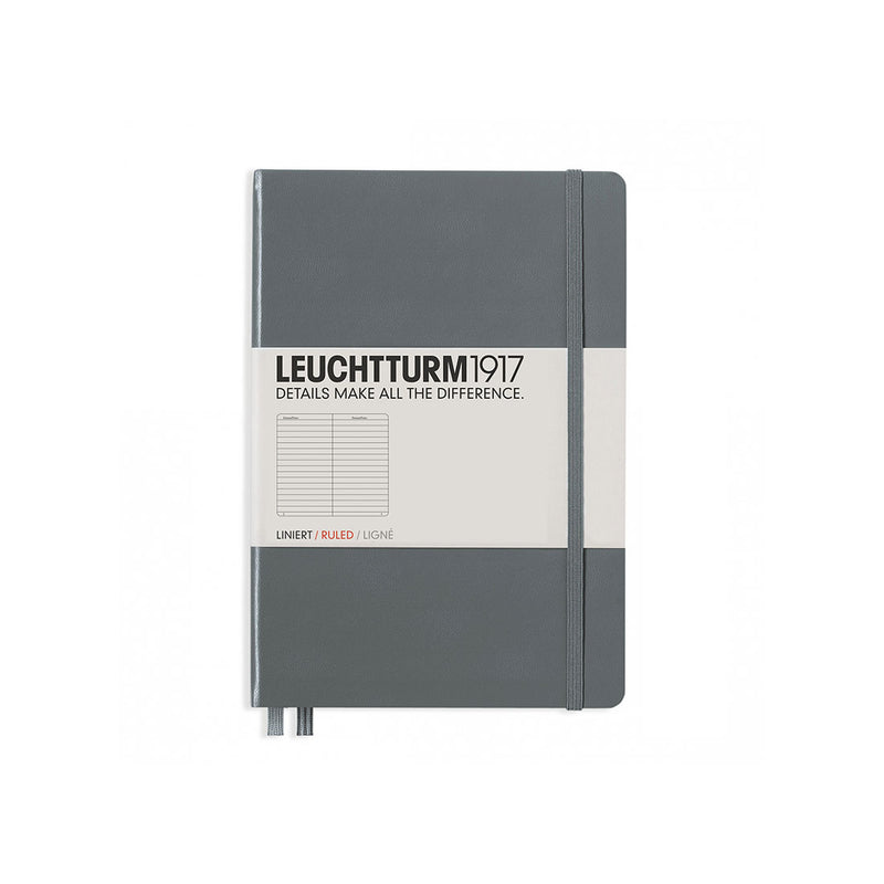 Leuchtturm A5 Hard Cover Ruled Anthracite