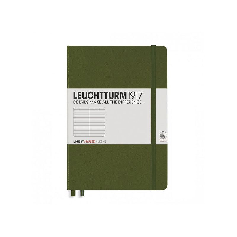 Leuchtturm A5 Hard Cover Ruled Army