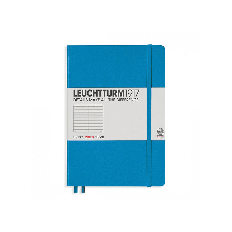 Leuchtturm A5 Hard Cover Ruled Azure