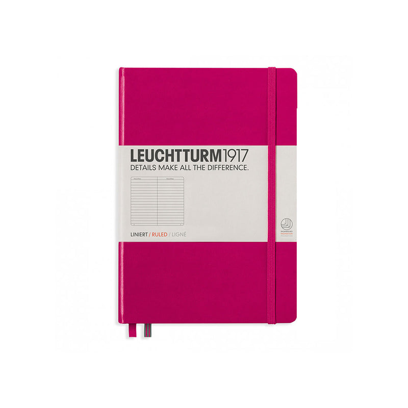 Leuchtturm A5 Hard Cover Ruled Berry