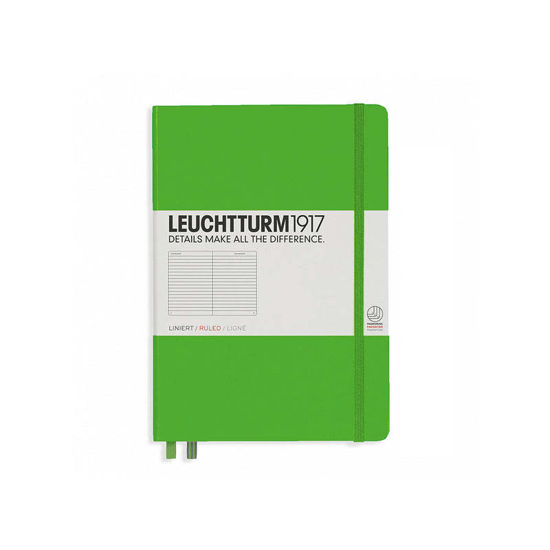 Leuchtturm A5 Hard Cover Ruled Green