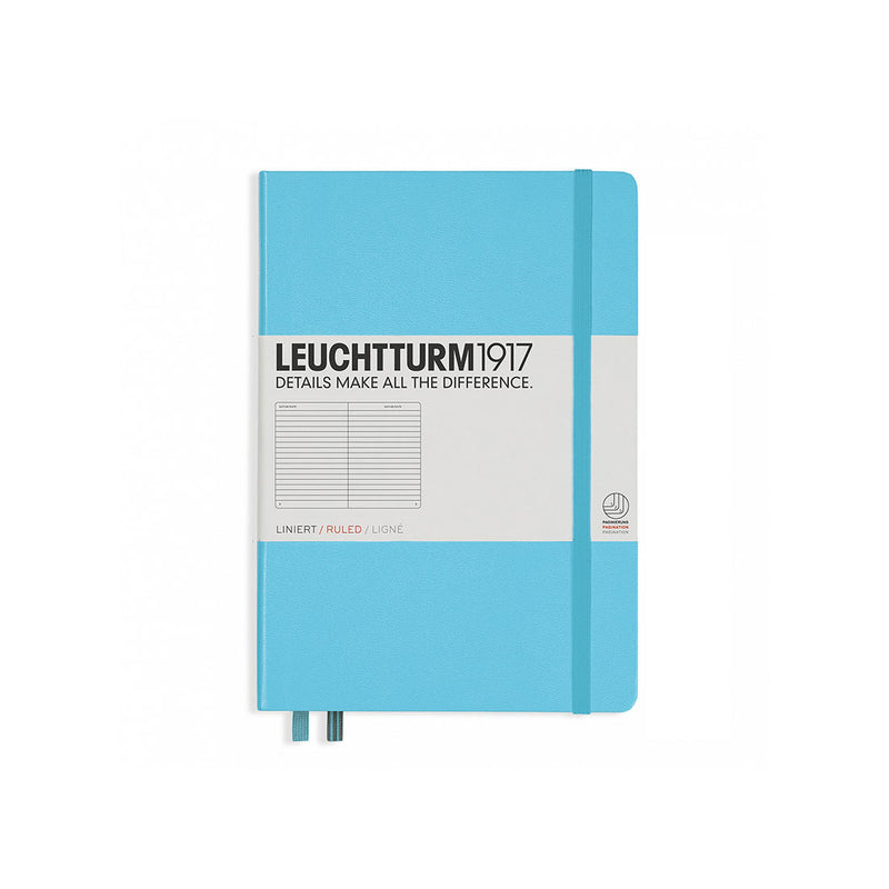 Leuchtturm A5 Hard Cover Ruled Ice Blue