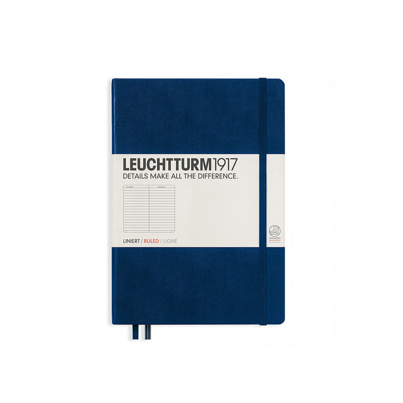 Leuchtturm A5 Hard Cover Ruled Navy