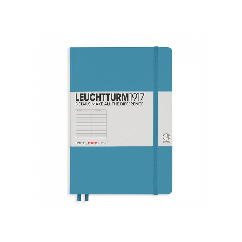 Leuchtturm A5 Hard Cover Ruled Nordic Blue