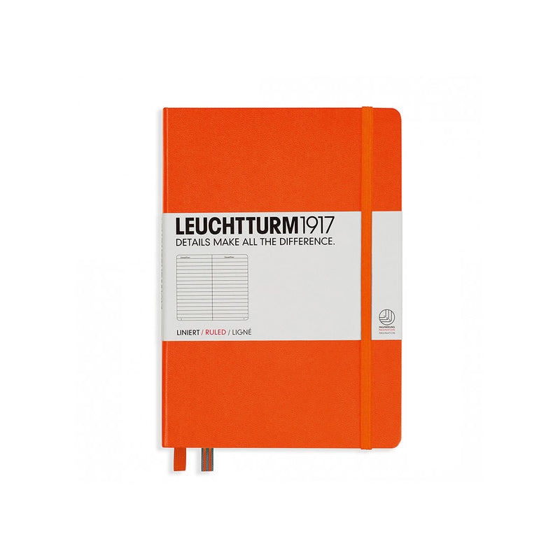 Leuchtturm A5 Hard Cover Ruled Orange