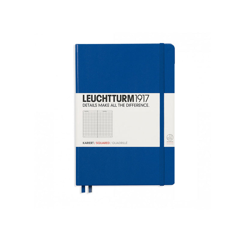 Leuchtturm A5 Hard Cover Squared Royal Blue