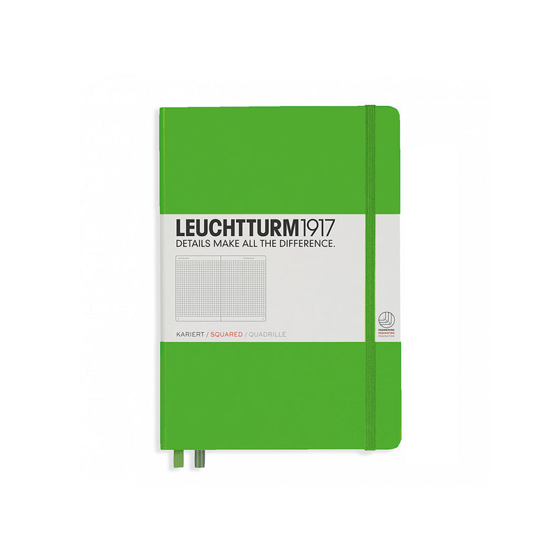 Leuchtturm A5 Hard Cover Squared Green