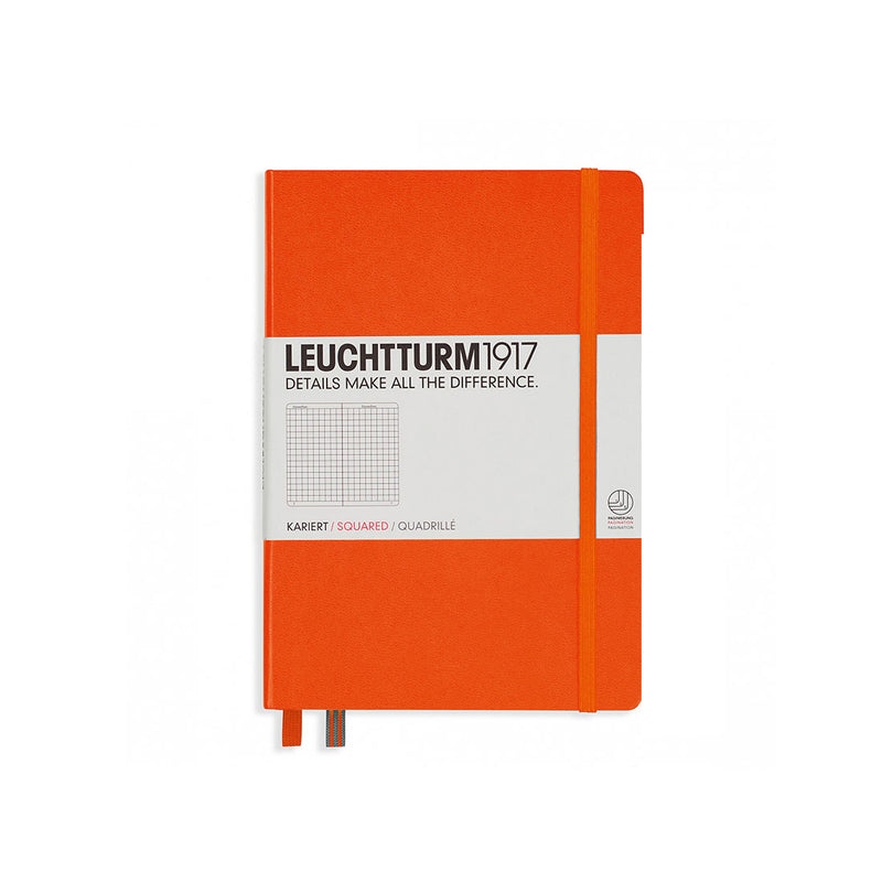 Leuchtturm A5 Hard Cover Squared Orange