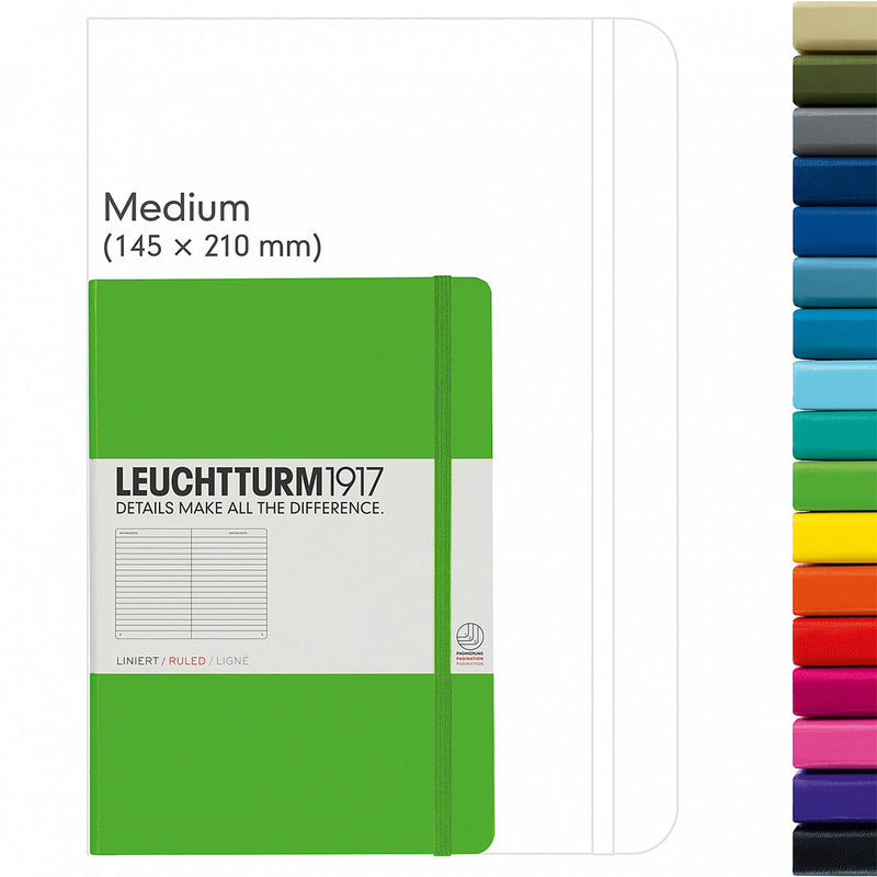 Leuchtturm A5 Hard Cover Ruled