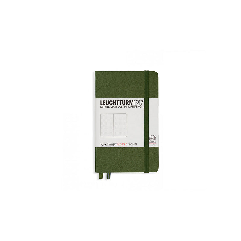Leuchtturm A6 Hard Cover Dotted Army