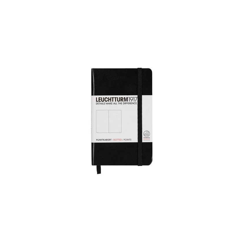 Leuchtturm A6 Hard Cover Dotted Black