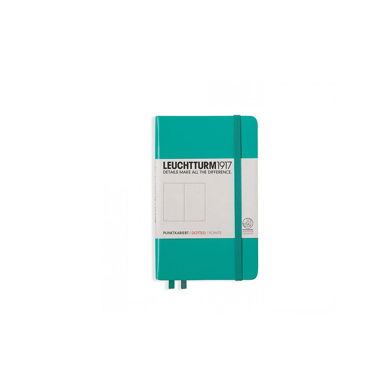 Leuchtturm A6 Hard Cover Dotted Emerald