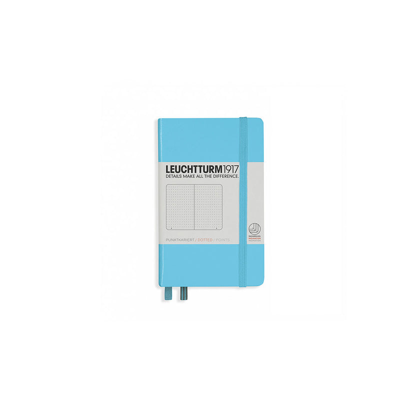 Leuchtturm A6 Hard Cover Dotted Ice Blue