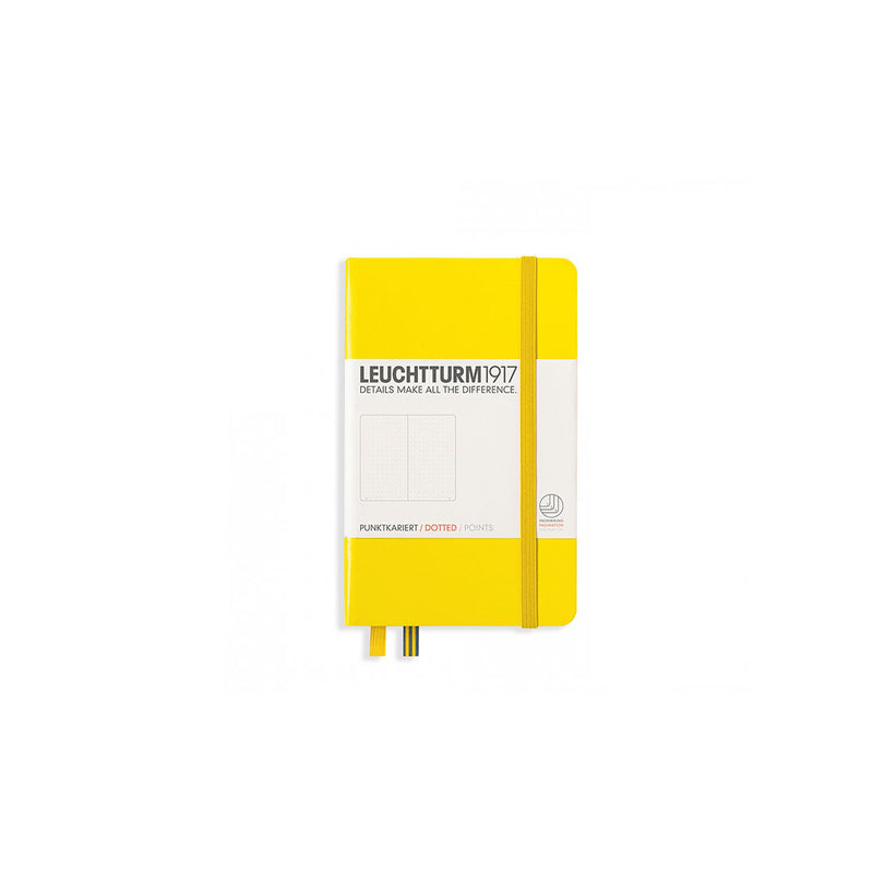 Leuchtturm A6 Hard Cover Dotted Lemon