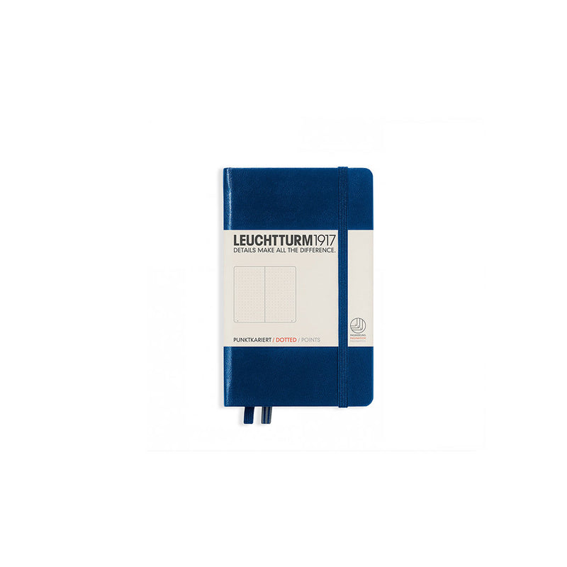 Leuchtturm A6 Hard Cover Dotted Navy