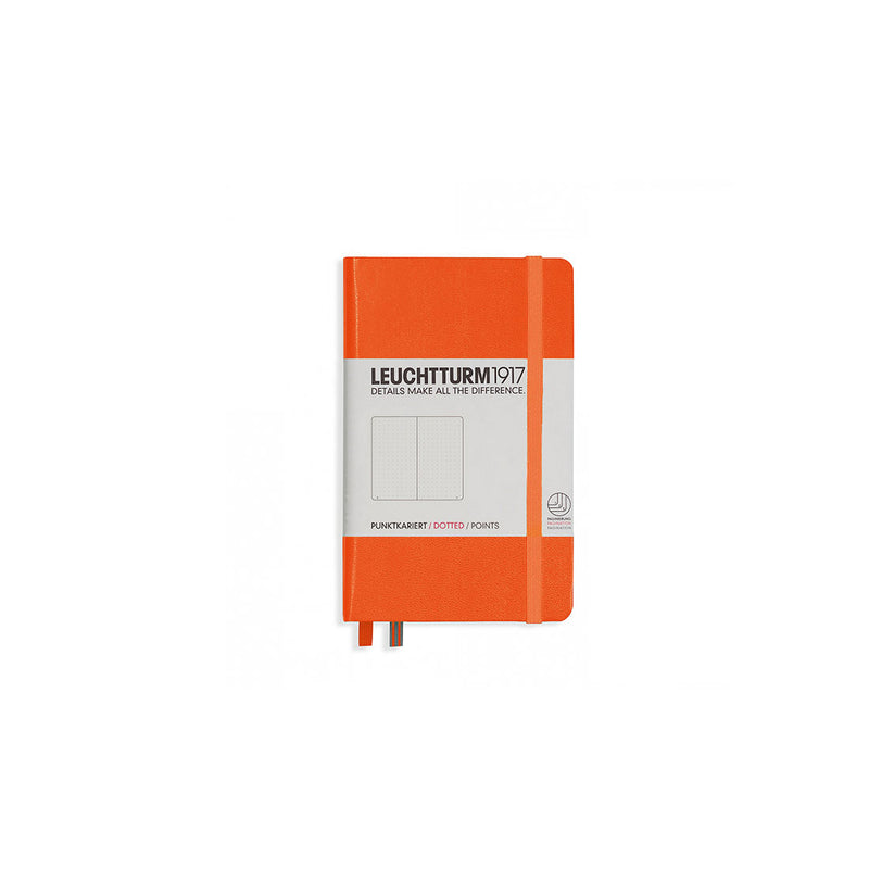 Leuchtturm A6 Hard Cover Dotted Orange