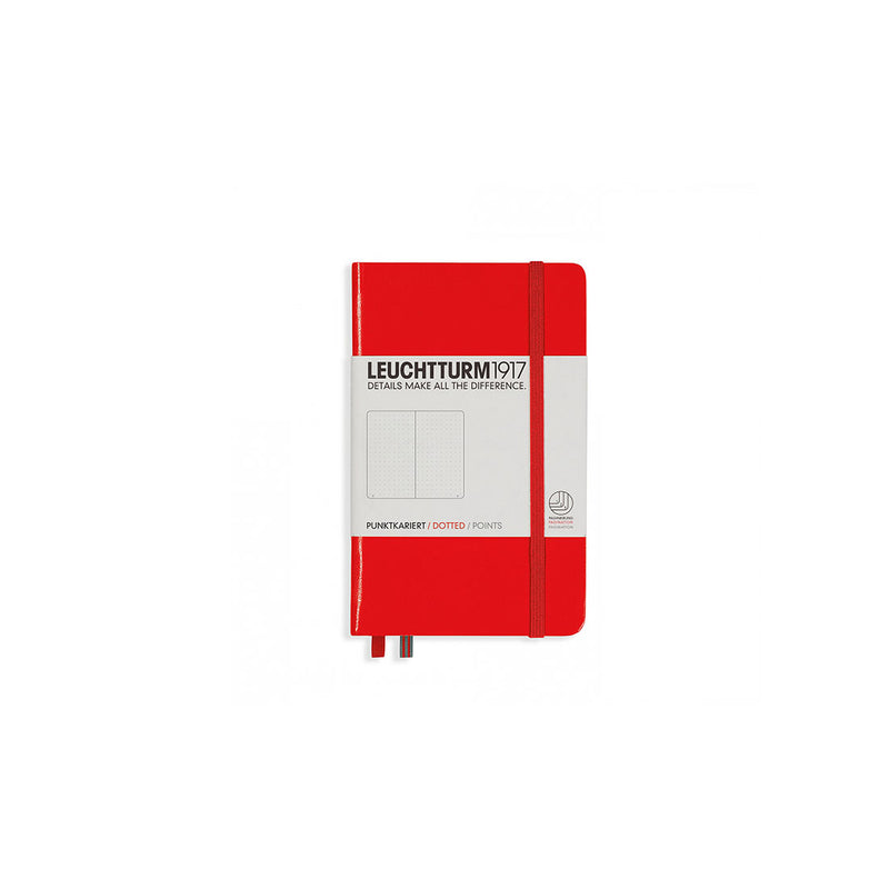Leuchtturm A6 Hard Cover Dotted Red