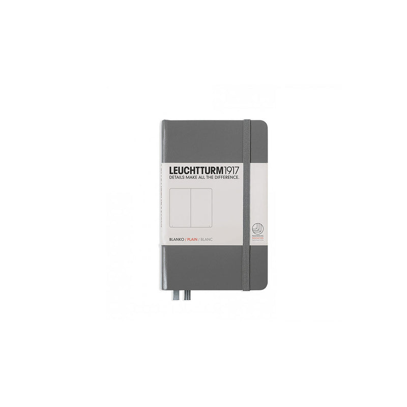 Leuchtturm A6 Hard Cover Plain Anthracite