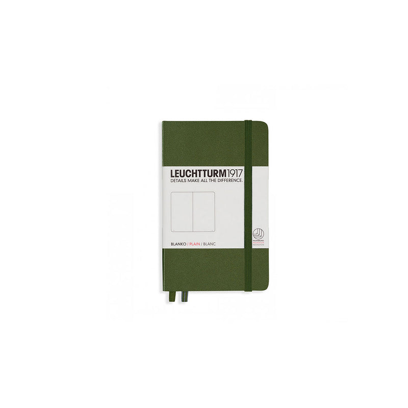 Leuchtturm A6 Hard Cover Plain Army