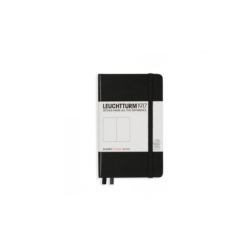 Leuchtturm A6 Hard Cover Plain Black