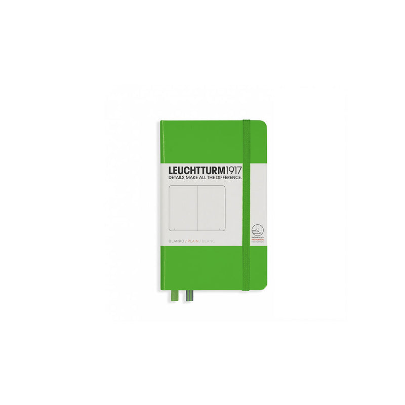 Leuchtturm A6 Hard Cover Plain Green