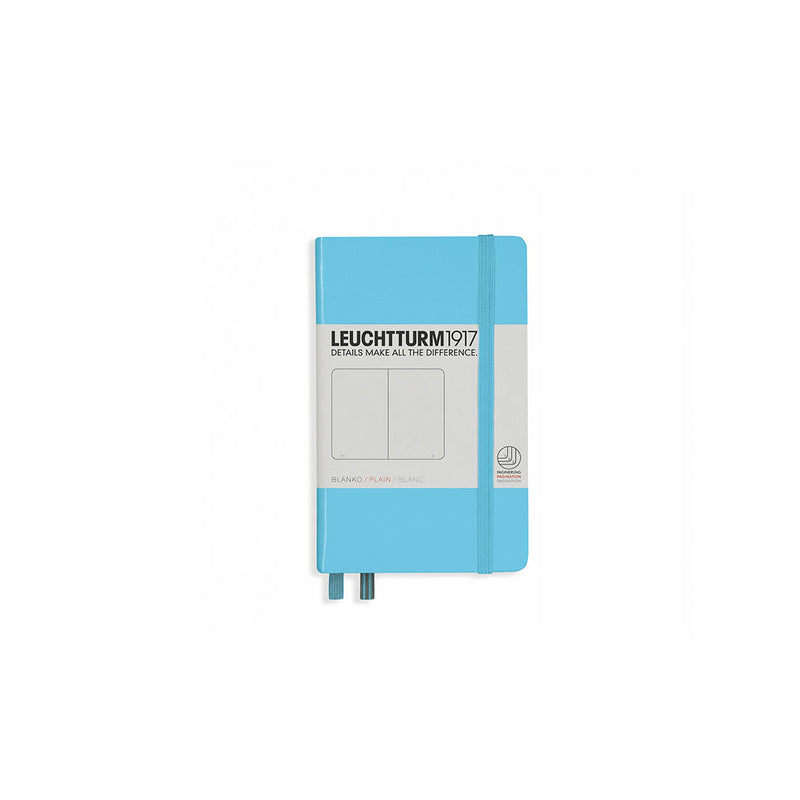 Leuchtturm A6 Hard Cover Plain Ice Blue