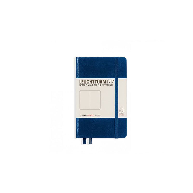 Leuchtturm A6 Hard Cover Plain Navy
