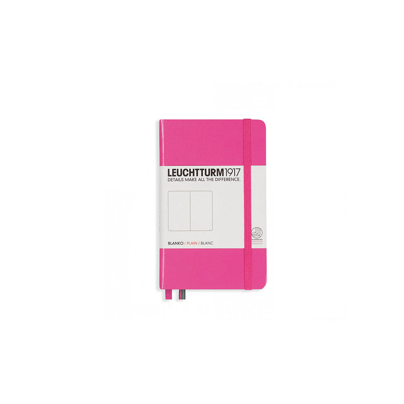 Leuchtturm A6 Hard Cover Plain Pink