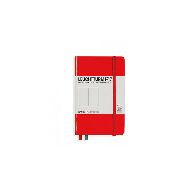 Leuchtturm A6 Hard Cover Plain Red